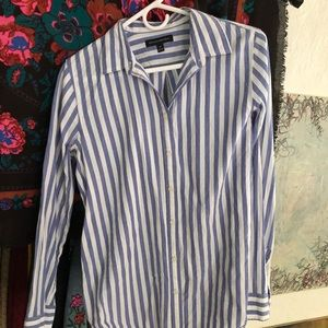 Blue and white Banana Republic button up